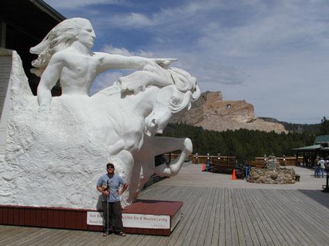 Plaster of Paris statue of Crazy Horse