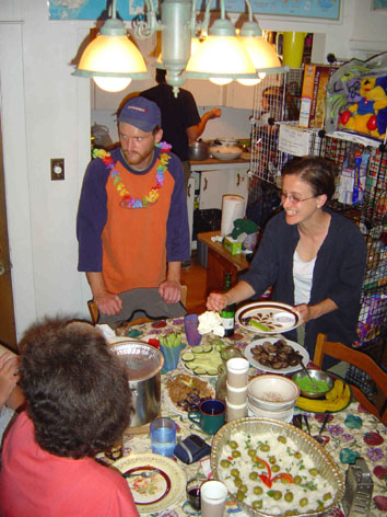 Sushi party at the hostel