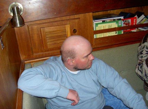 Tony onboard boat
