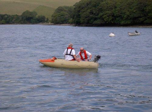 Tony in dinghy