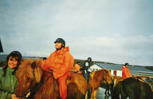 Tony horse riding in Hafnarfjördur