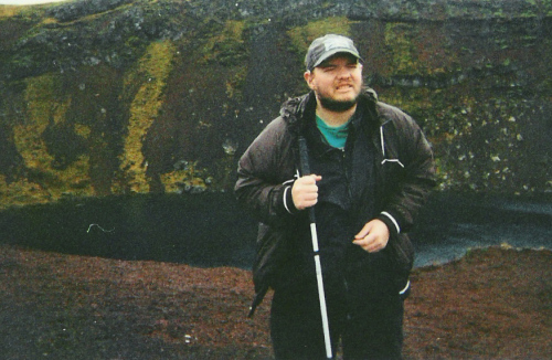 Tony standing by Kerið Crater