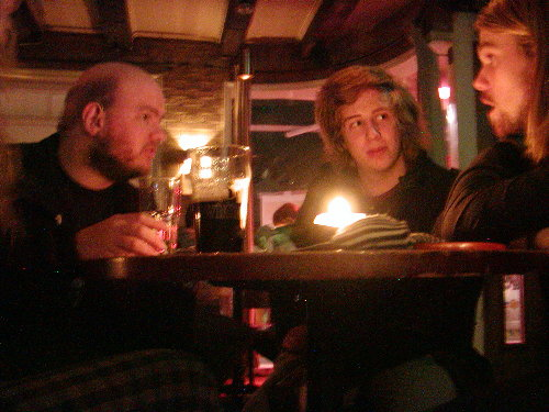 Tony in the pub with Bjorn and Brian