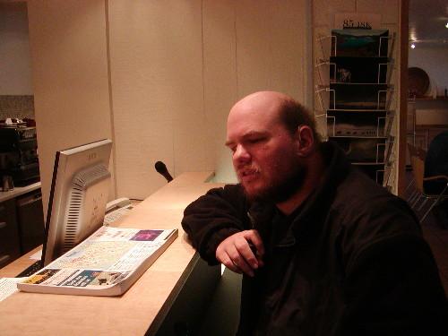 Reception desk in Reykjavik