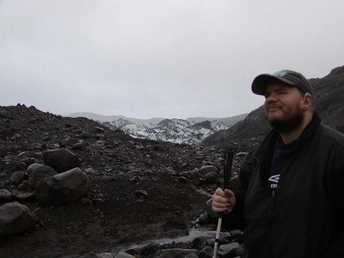 Tony at Myrdalsjokull peak