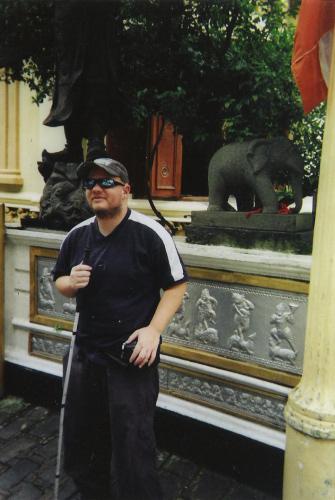Tony visiting Gangarama Temple, Colombo, 19 November