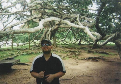 Tony visiting Peradeniya Botanical Gardens, Kandy, November