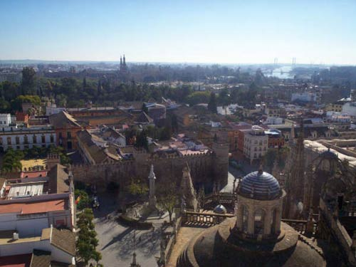 View from the cathedral tower (la Giralda)