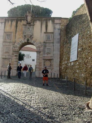 Tony near the entrance to the castle