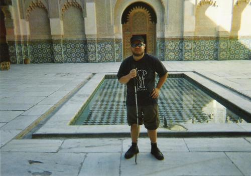 Central courtyard of the Ali ben Youseff Medersa, Marrakesh