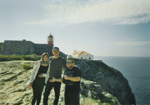 Tony and friends near the Cabo Sao Vicente lighthouse