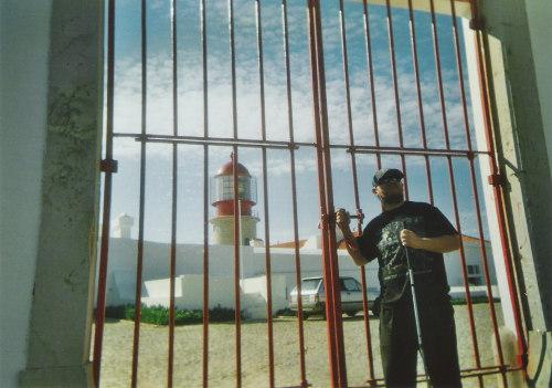 Tony outside the lighthouse gates