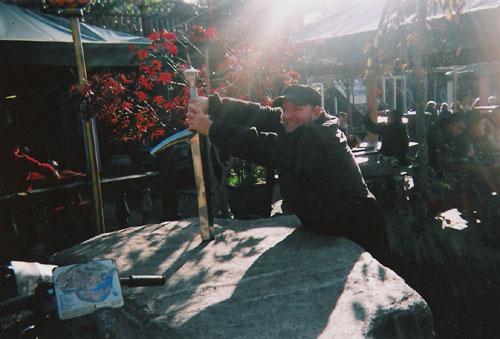 Tony trying to retrieve excalibur's sword. Christiania