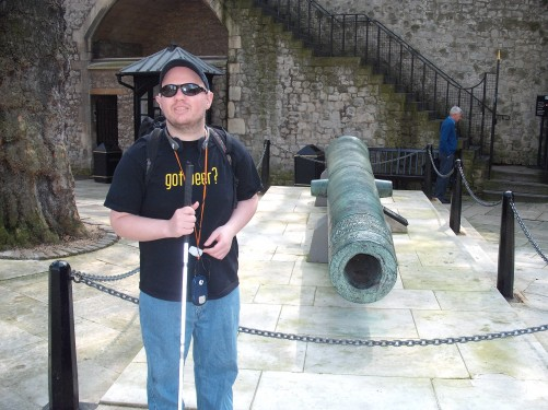 Cannon inside The Tower of London 19th April 2009