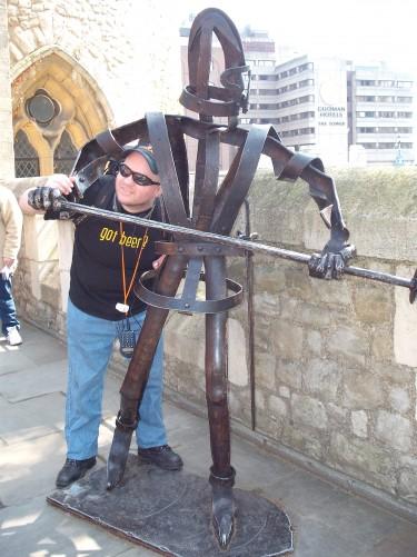 Tony posing again! The Tower of London 19th April 2009