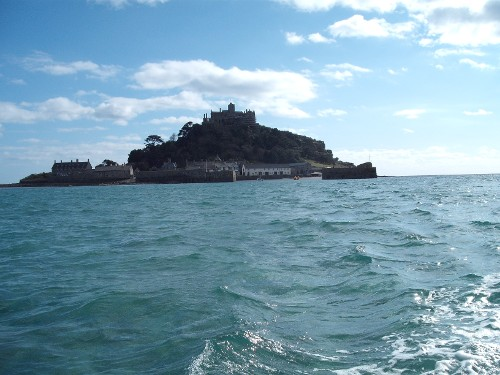 Leaving St. Michael's Mount by boat