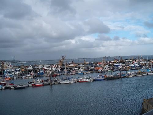 Newlyn fishing port, Penzance, Cornwall
