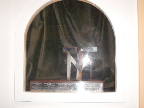 Plaque of Minack Theatre, Cornwall