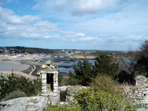 View of the causeway from St. Michael's Mount, Cornwall