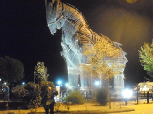 Çanakkale at night - Trojan Horse
