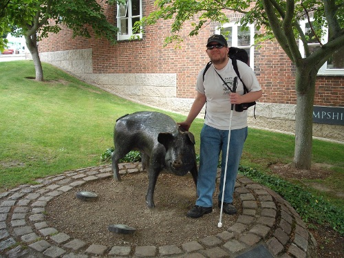 Another photo of Tony and a wild boar, Winchester