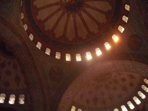 Dome inside Blue Mosque