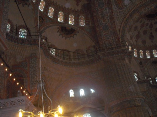 Dome inside the Blue Mosque