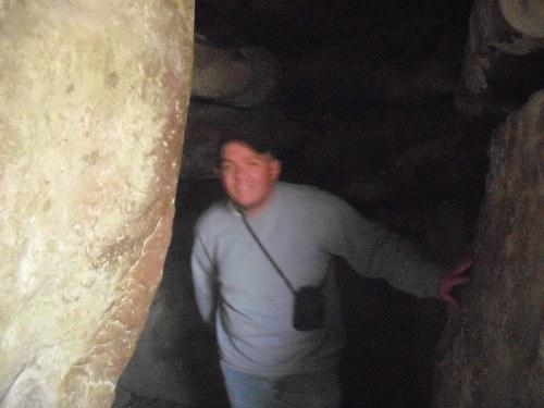 Inside West Kennet Long Barrow