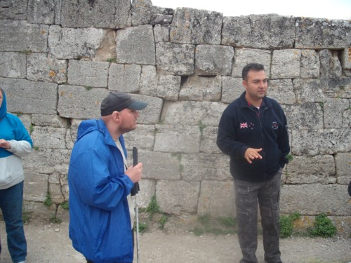 Tony and tour guide at Troy