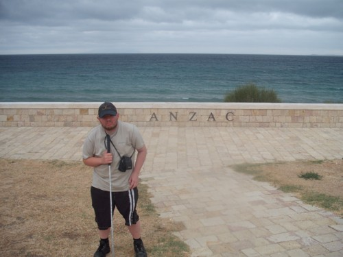 Tony at Anzac, Gallipoli