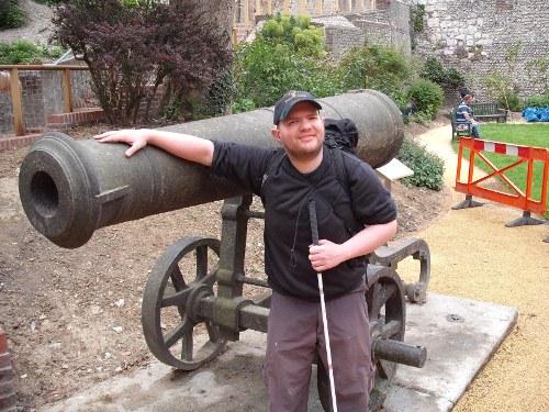 Tony at Lewes Castle, June 2009