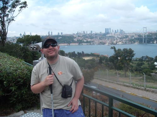 Tony at the highest point in Istanbul, 1st September 2009