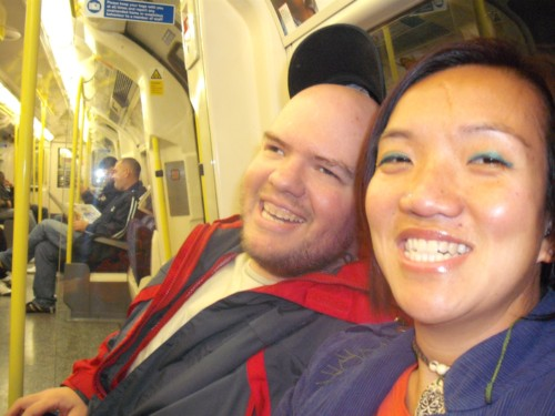 Tony & Tram, London Underground, 27th October 2009