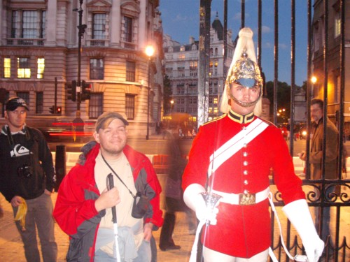 Tony at Horse Guards Parade, London