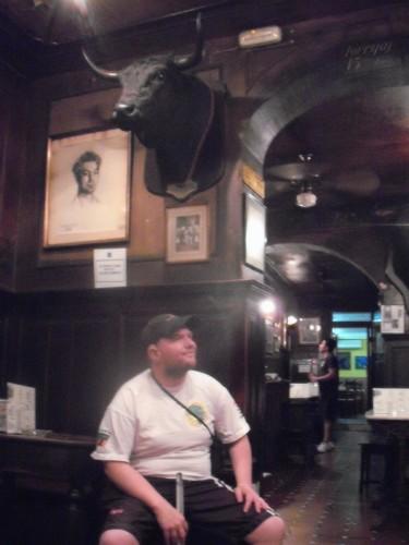 Tony in taberna bar, Madrid.