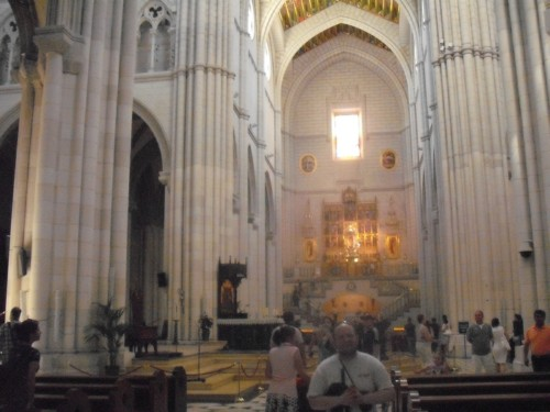 Inside Madrid Cathedral