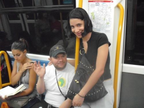 Tony and Glensey on the Metro