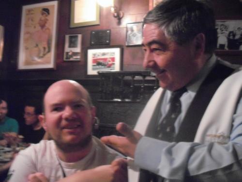 Tony and waiter in Madrid