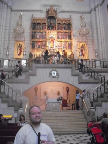 Tony inside Madrid Cathedral