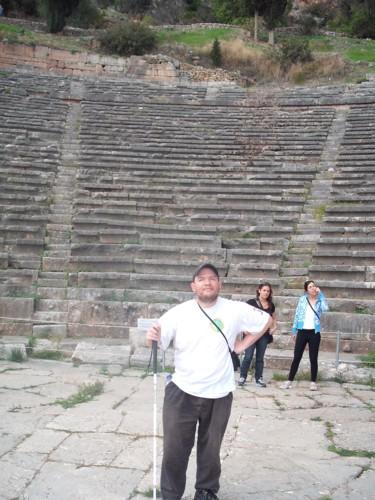 Amphitheatre, ancient Delphi, central Greece.