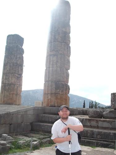 Delphi ancient ruins.