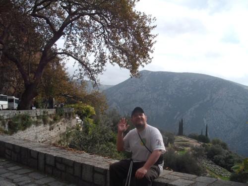 Goodbye! Delphi, central Greece. 7th November 2009.