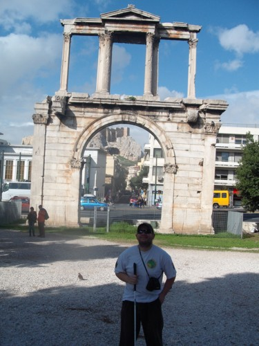 Hadrian's Arch, Athens, Greece. 6th November 2009.