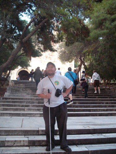 Tony on the steps to the Acropolis.
