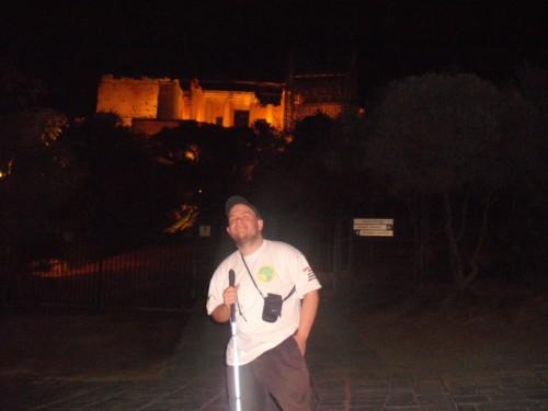 The Acropolis at night, Athens, Greece. 6th November 2009.