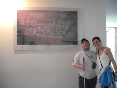 Tony and Maria in Delphi Archaeological Museum.