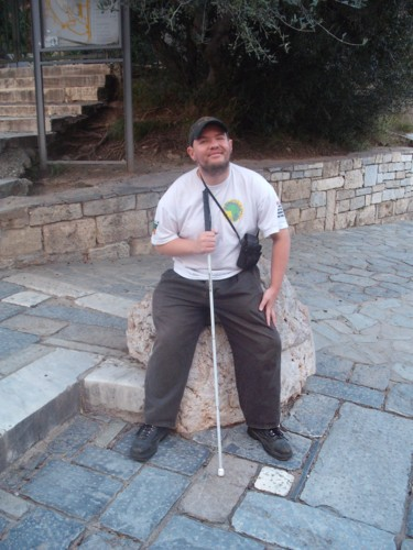 Tony getting ready for the climb to the Acropolis.