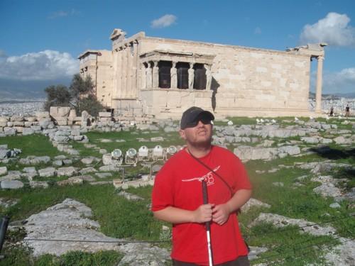 Tony outside The Erechtheum, The Acropolis, Athens, Greece