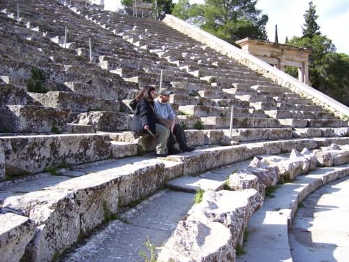 Tony and Tatiana on lower seats in Theatre