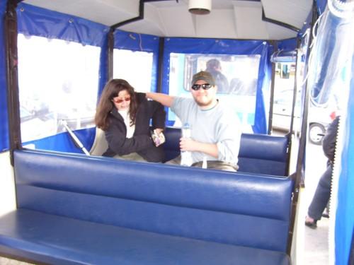 Tony and Tatiana in tour train